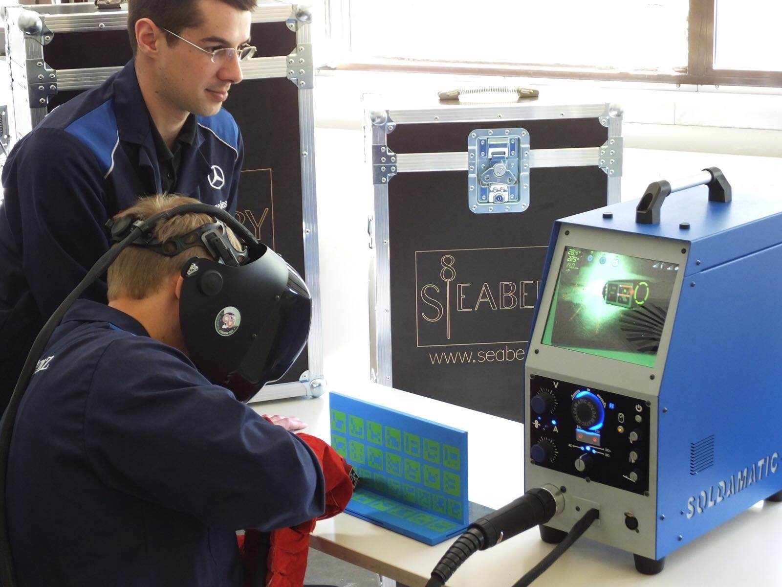 """AR-based welding training from Soldamatic"""